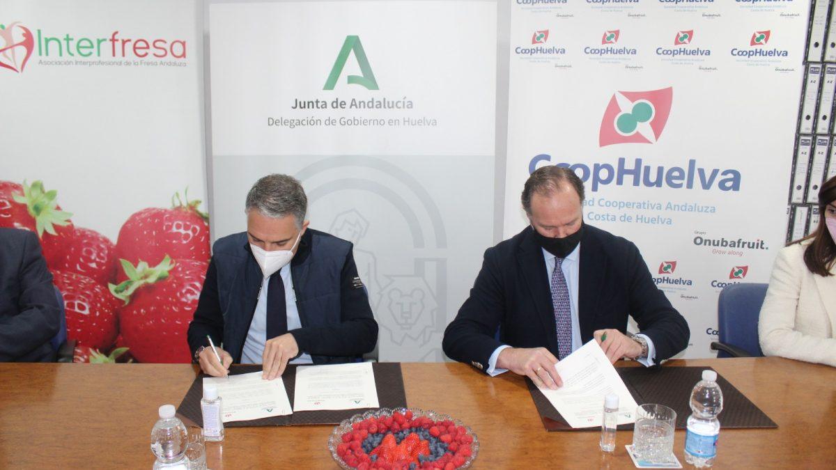 Interfresa y la Junta de Andalucía renuevan su compromiso por la integración y el fomento de la convivencia en el sector de los frutos rojos